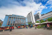 View of Hotorget with its outdoor market in Stockholm — Foto de Stock