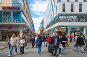 The shopping street Drottningatan during day — Stock Photo