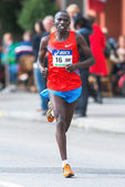 Benjamin Chebet from Kenya later came in as number six in ASICS  — Stock Photo