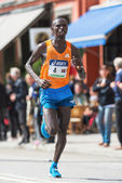 Nixon Machichin from Kenya the silver medalist in the ASICS Stoc — Stock Photo