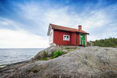 Albert Engstroms seaside cabin — Stock Photo