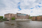 Swedish parliament building or Riksdagshuset — Stock Photo