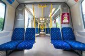 Interior of a Stockholm Metro train — Stock Photo