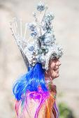 Transgender in metallic creation during Stockholm Pride Parade — Stock Photo