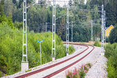 Railtrack in a beautiful curve — Stockfoto