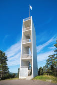 Watchtower at the northern hill overlooking Sundsvall — Stock Photo