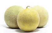 Three Cantaloupe Fruits — Stock Photo