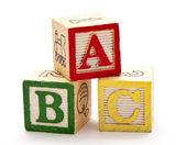 Abc ブロック — ストック写真