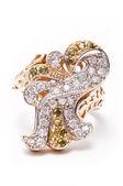 Golden Jewel Ring — Stock Photo