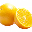 Orange Full And Half — Stock Photo