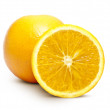 Orange Full And Cut — Stock Photo
