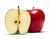 Full & Half Apple — Stock Photo