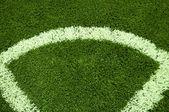 футбол угол — Стоковое фото