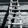Grungy Ladder and Shadows - Foto de Stock