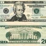 Twenty Dollars Bill — Stock Photo