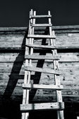 Grungy Ladder and Shadows — Stockfoto