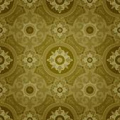 Dark Decorative Geometric Seamless Pattern — Stock Vector