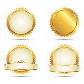 Set di sigillo d'oro — Vettoriale Stock