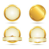 Gold Seal Set — Stock Vector