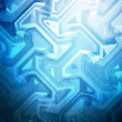 Blue Stained Glass Background — Stock Photo