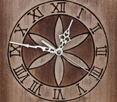 Wooden Wall Clock — 图库照片
