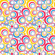 Colorful Circles Seamless Pattern — Stock Vector #18111983