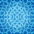 Blue Floral Seamless Pattern - Stock Vector