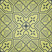 Artistic Green Seamless Pattern — Stock Vector