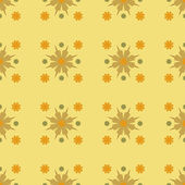 Seamles Geometric Yellow Flower Pattern — ストックベクタ