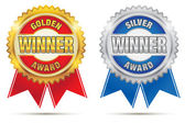 Gold And Silver Awards — Stock Vector