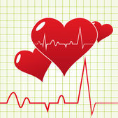 Heart Beat Diagram — Stock Vector