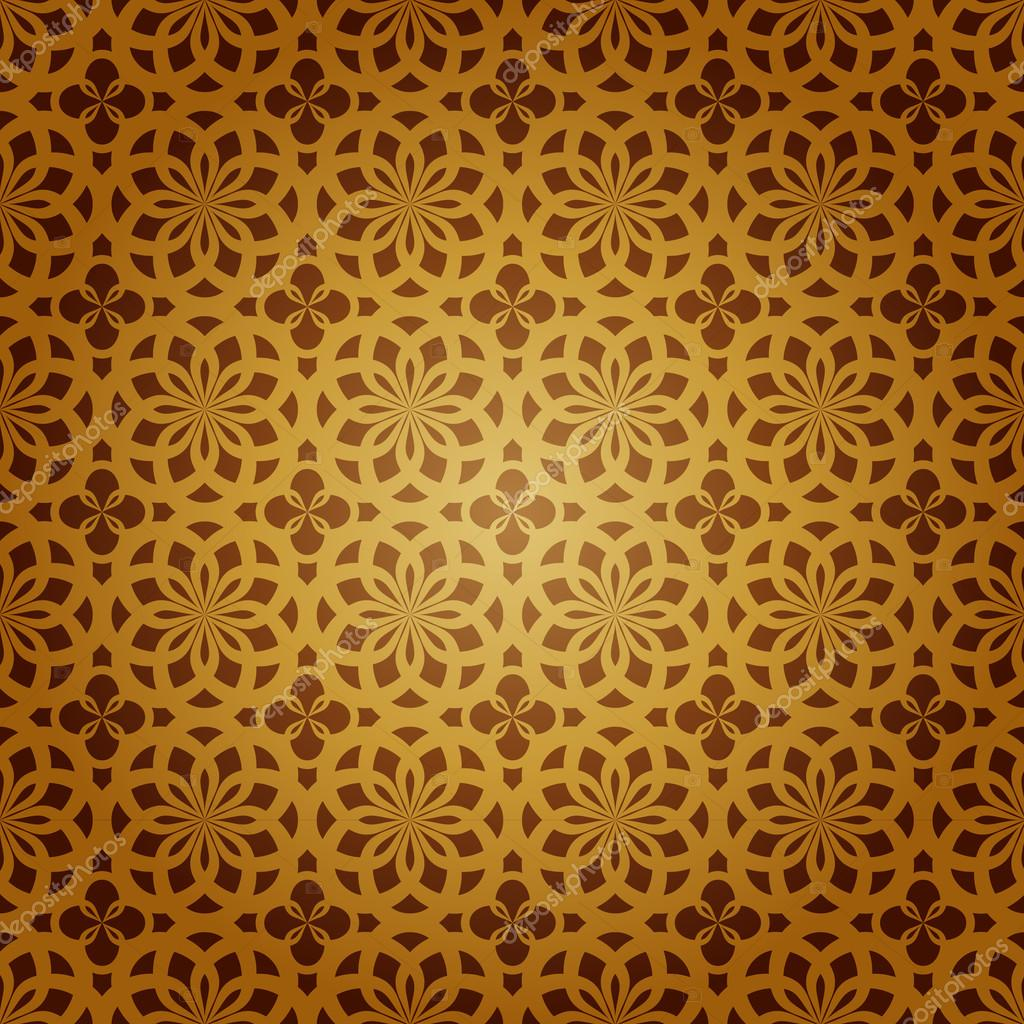 Seamless Geometric Islamic Art Pattern - Stock Illustration