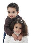 Irmão e irmã — Foto Stock