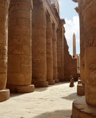 Karnak Columns. Luxor, Egypt — Stock Photo