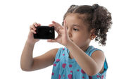 Lovely Girl Photographing — Stock Photo