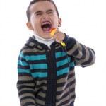 Little Boy Singing Loudly — Stock Photo