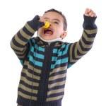 Little Child Singing Loudly — Stock Photo