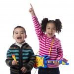 Happy Kids Music Band — Stock Photo