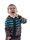 Little Boy Singing Loudly — Stock Photo