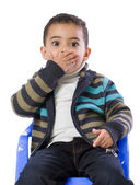 Little Boy Scared — Stock Photo