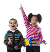Happy Kids Music Band — Foto de Stock