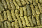 Green Grape Leaves Stuffed Rolls — Stock Photo