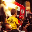 A Little Boy Protesting Against Morsy — Stock Photo