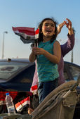 Little Girl with Egyptian Flag — Stock Photo