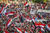 Egyptská mládež protestuje proti muslimské bratrstvo — Stock fotografie