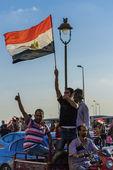 Egyptian with Egyptian Flag — Stock Photo