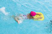Little Young Girl in Swimming Pool — Stock Photo