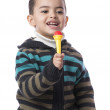 Little Boy with Microphone — Stock Photo
