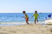 Children Playing at Beach — Stock Photo