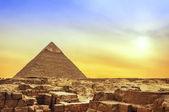 Giza Pyramid at Sunset — Stock Photo